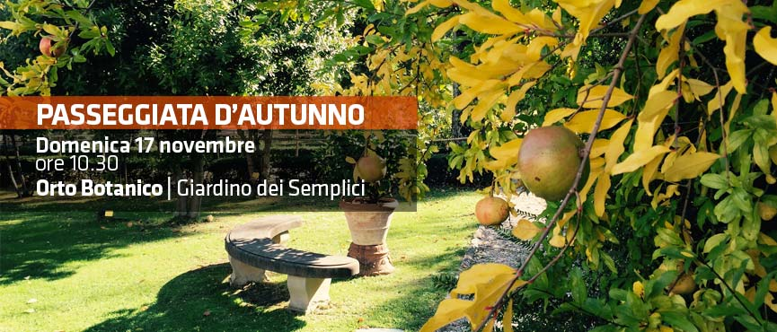 La magia dell'autunno all'Orto Botanico